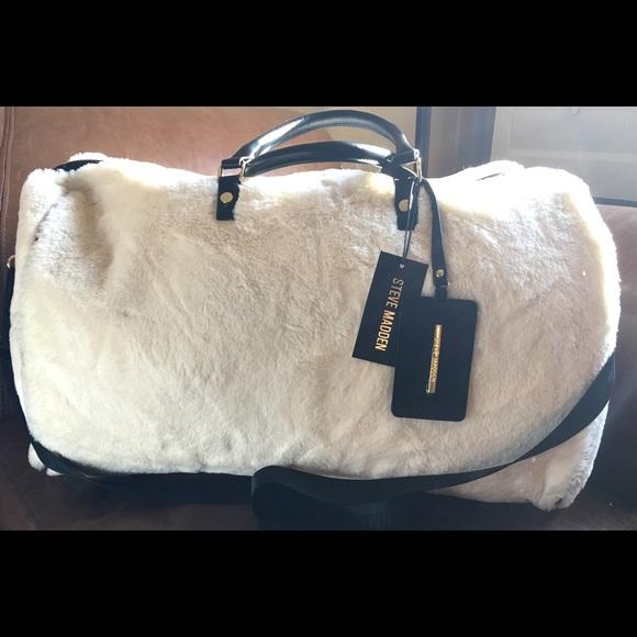 5476cb63a60 Steve Madden Bags | Bsoft Ivory Weekender Duffle Bag | Poshmark